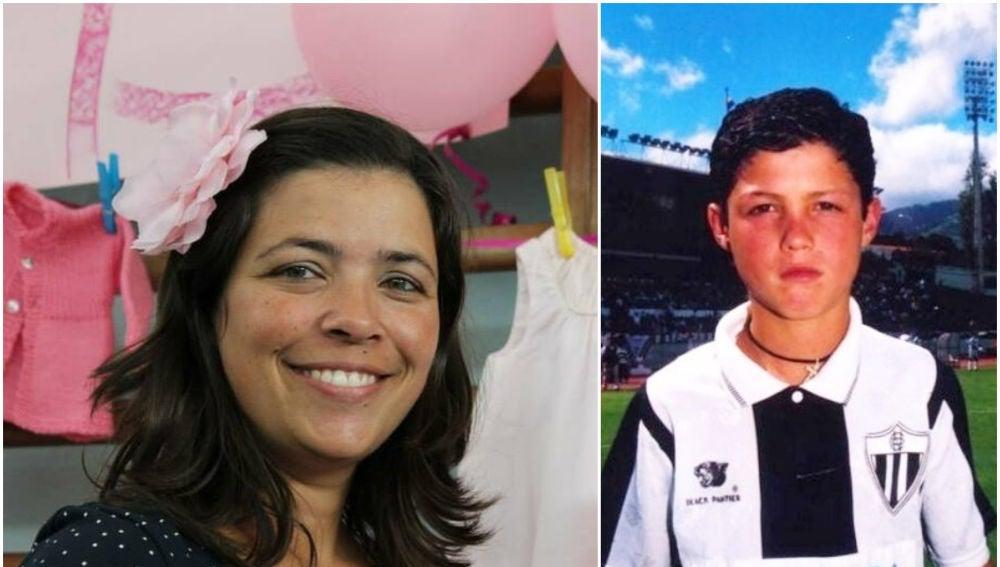 Paula Leça y Cristiano Ronaldo de pequeño