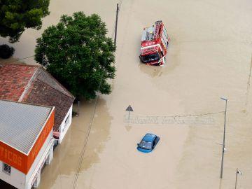 Imagen aérea de la ciudad de Dolores (Alicante)