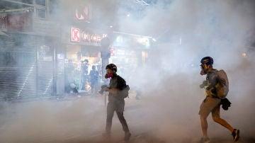 Decimosexta jornada consecutiva de protestas en Hong Kong