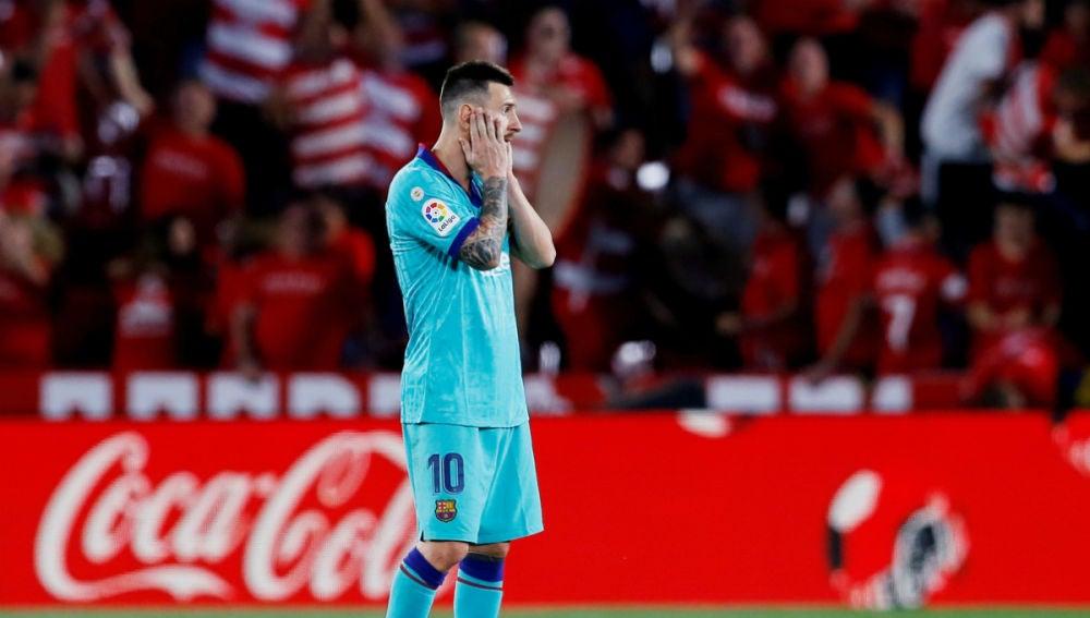 Messi, solo en un partido