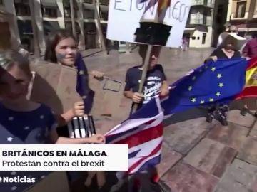 Más de un centenar de británicos se concentran en Málaga contra el 'brexit'