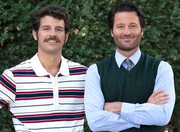 Francisco Ortiz y Fernando Andina en la presentación de la séptima temporada de 'Amar es para siempre'