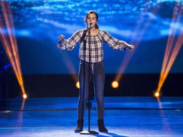 Victoria Herraiz canta 'Don't rain on my parade' en las Audiciones a ciegas de 'La Voz Kids'
