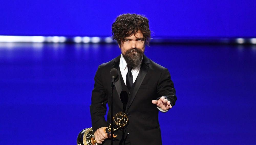 Peter Dinklage (Tyrion 'Juego de Tronos') durante su discurso en los Emmy 2019