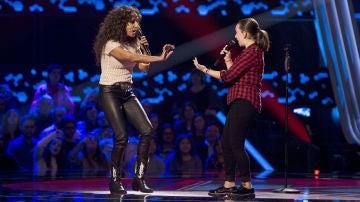 Rosario Flores y Lidia España cantan 'Gloria a ti' en las Audiciones a ciegas de 'La Voz Kids'