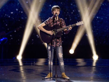Guillermo Rueda canta 'Your song' en las Audiciones a ciegas de 'La Voz Kids'