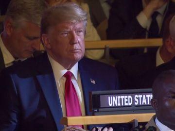 Trump se pasa brevemente por la Cumbre del Cclima de la ONU pero sin intervenir