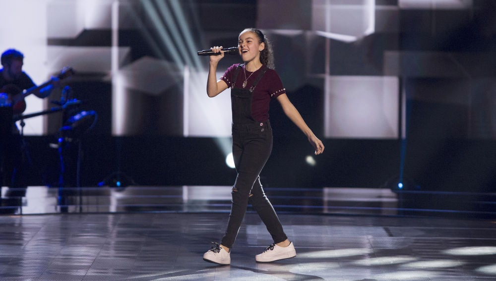 Marta Berlín canta 'Ex's ands oh's' en las Audiciones a ciegas de 'La Voz Kids'