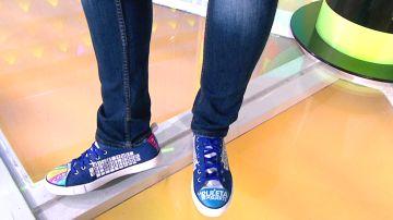Las espectaculares zapatillas con las que una concursante rinde homenaje a 'La ruleta de la suerte'