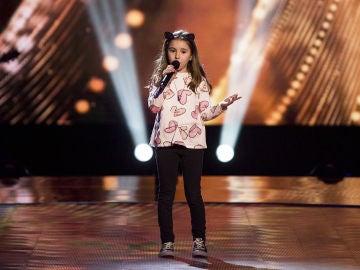 Arian Jiménez canta 'Santa Lucía' en las Audiciones a ciegas en 'La Voz Kids'