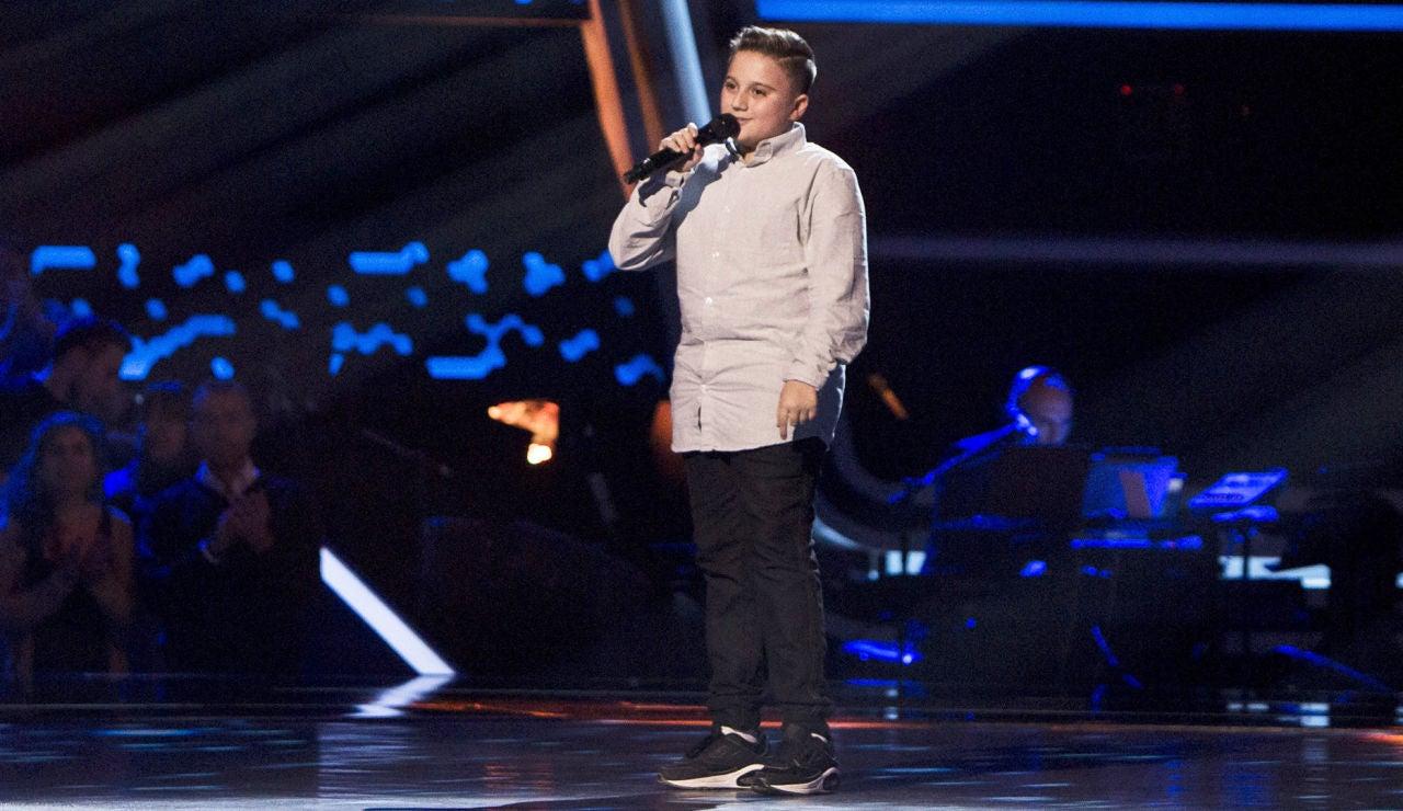 Chavito canta 'Cuando nadie me ve' en las Audiciones a ciegas de 'La Voz Kids'