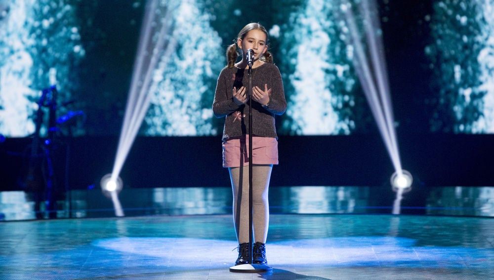 Inés Navarro canta 'My heart will go on' en las Audiciones a ciegas de 'La Voz Kids'