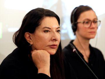 La artista Marina Abramovic.