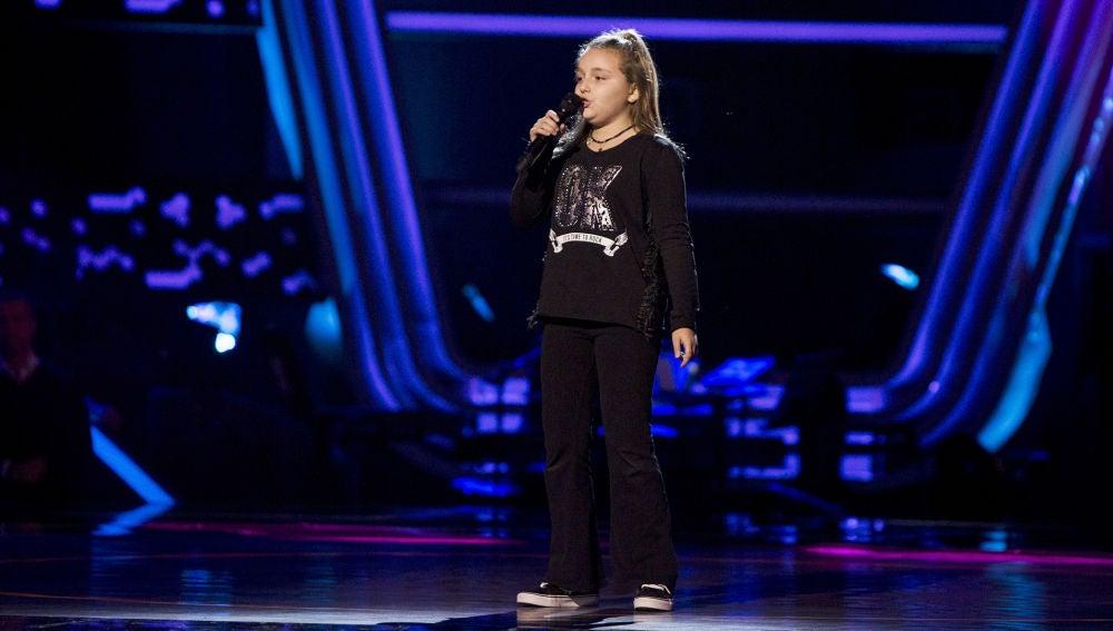 María Fernández canta 'When I was your man' en las Audiciones a ciegas de 'La Voz Kids'