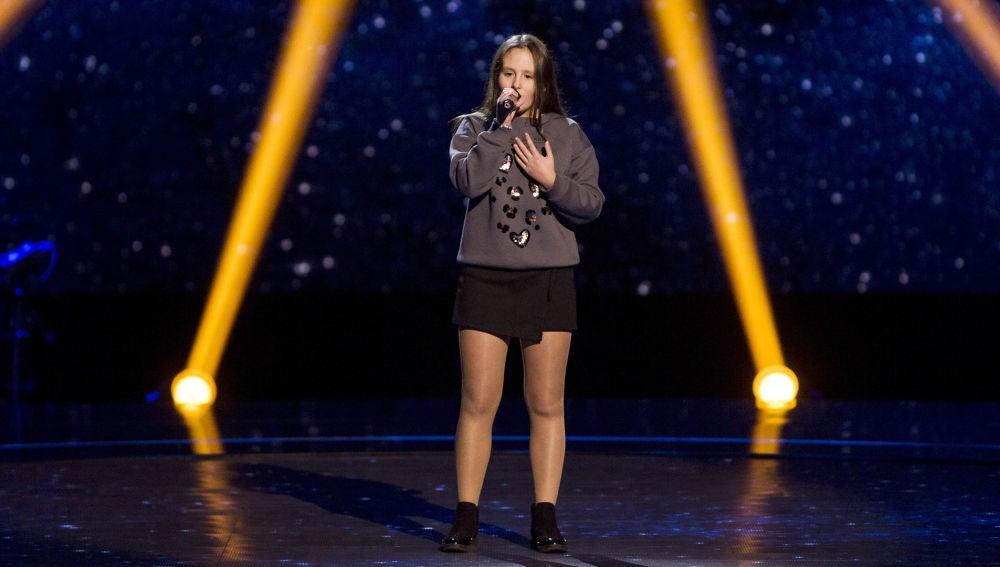 Laura Bautista canta 'I have nothing' en las Audiciones a ciegas de 'La Voz Kids'