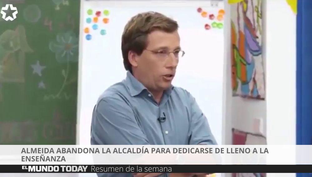 Almeida deja la política
