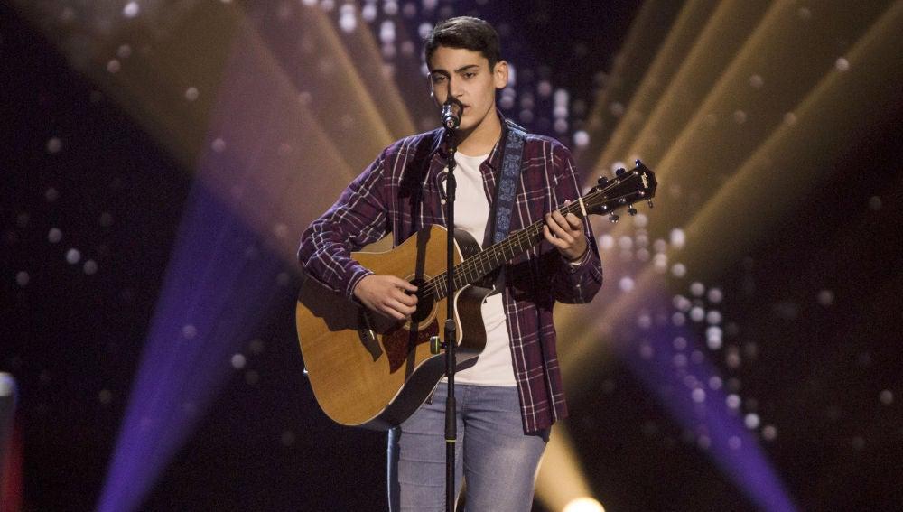 Actuación Julio Gómez con 'Redemption song' en las Audiciones a ciegas