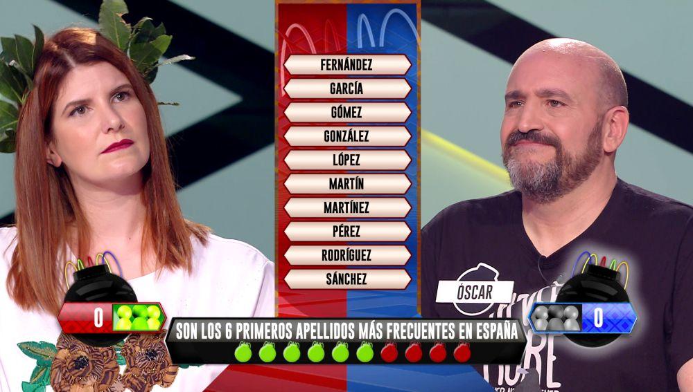 ¿Cuáles son los apellidos más frecuentes en España? El emocionante desempate en '¡Boom!'
