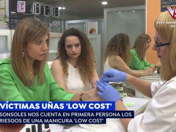 Víctima de uñas 'low cost'