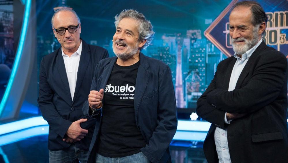 Disfruta de la entrevista completa de Carlos Iglesias, Roberto Álvarez y Ramón Barea en 'El Hormiguero 3.0'