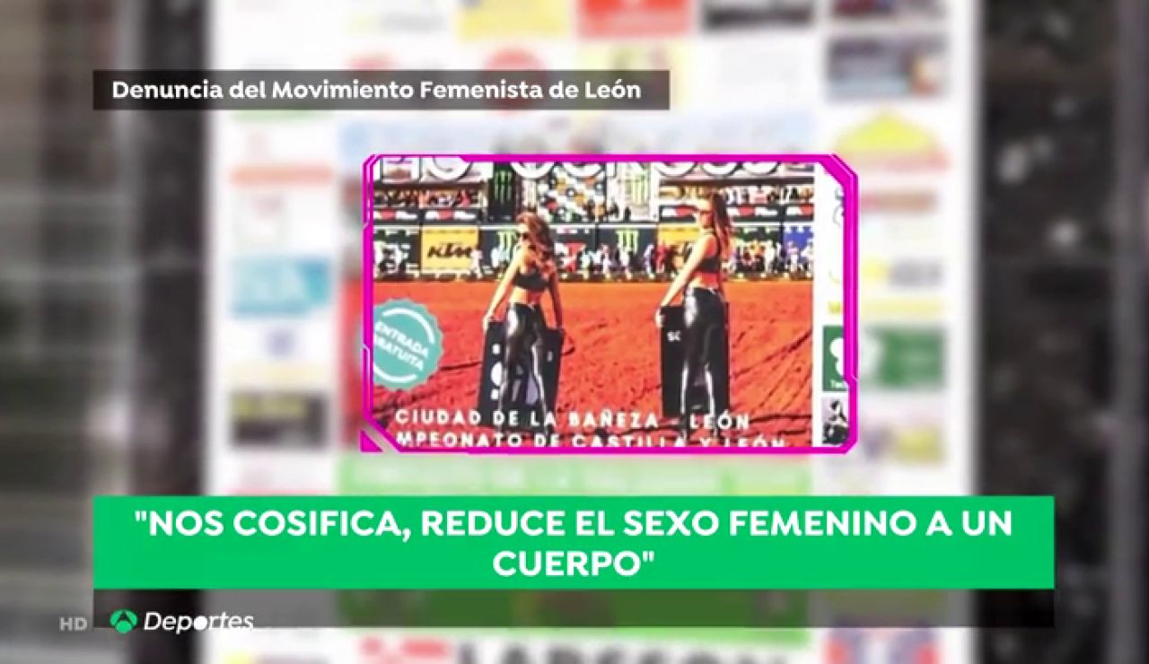 Indignación por el polémico cartel sexista que anuncia una competición de motocross en La Bañeza