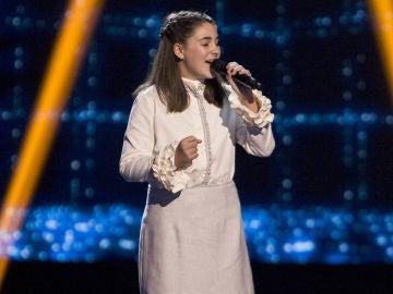 Eva Paul canta 'Rise like a phoenix' en las Audiciones a ciegas de 'La Voz Kids'
