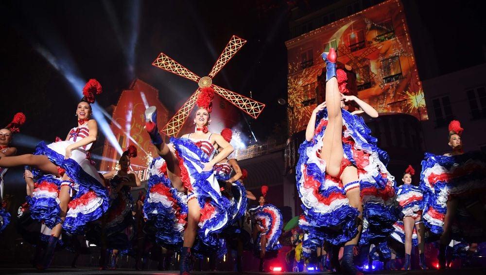 Celebración del 130 aniversario del Moulin Rouge