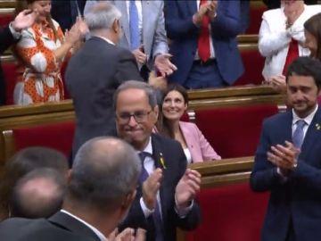 El Parlament rechaza la moción de censura contra Torra con la abstención del PSC