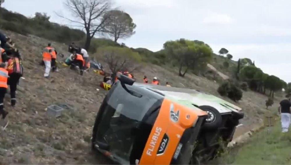 El autobús accidentado en Francia