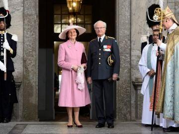 Los reyes de Suecia Silvia y Carlos XVI Gustavo
