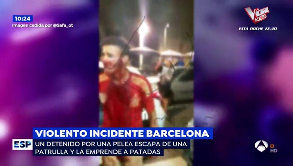 Violenta detención en Barcelona