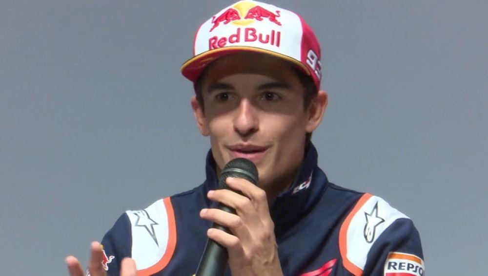 REEMPLAZO Primera rueda de prensa de Márquez tras volver a España después de ganar MotoGP