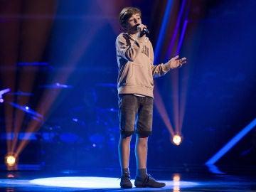 Actuación Miguel Martín con 'Caresse sur l'océan' en las Audiciones a ciegas