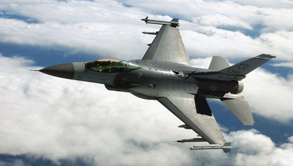 Un F-16 de la Fuerza Aérea Estadounidense