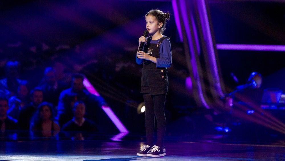 Actuación Alicia Paramés con 'A million dreams' en las Audiciones a ciegas