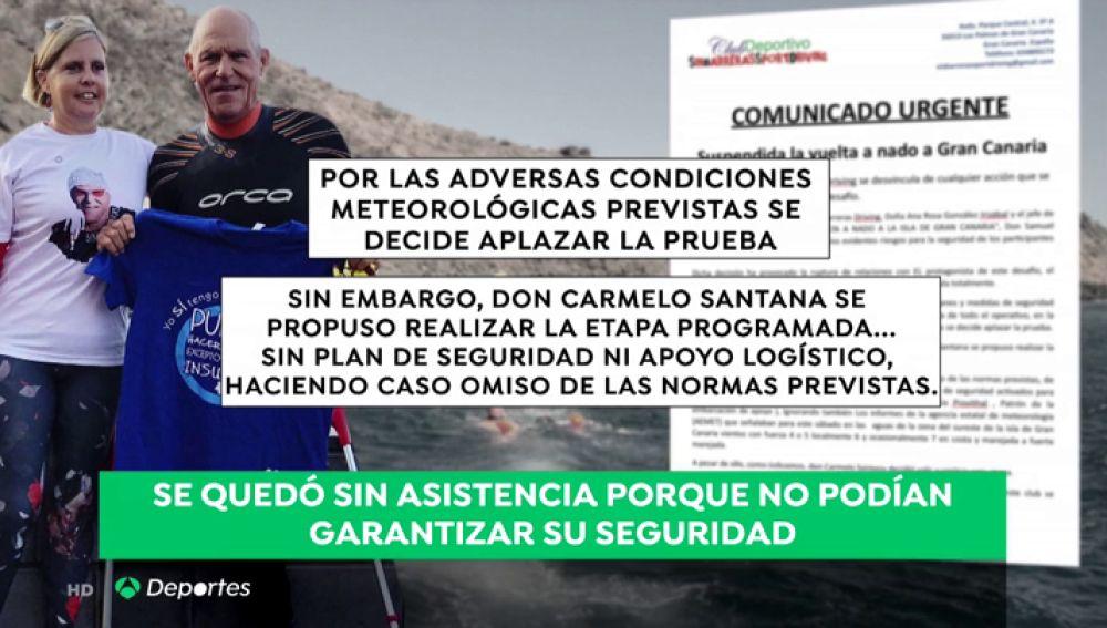 Carmelo Santana se quedó sin la asistencia técnica de su club de nado al no poder garantizar su seguridad