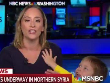 El hijo de la presentadora en pantalla