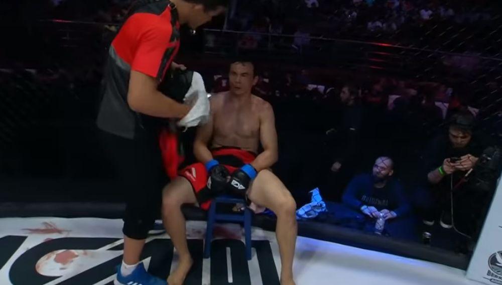 Bekzod Nurmatov en su último combate