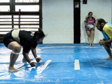 La luchadora de sumo Lidia Arias