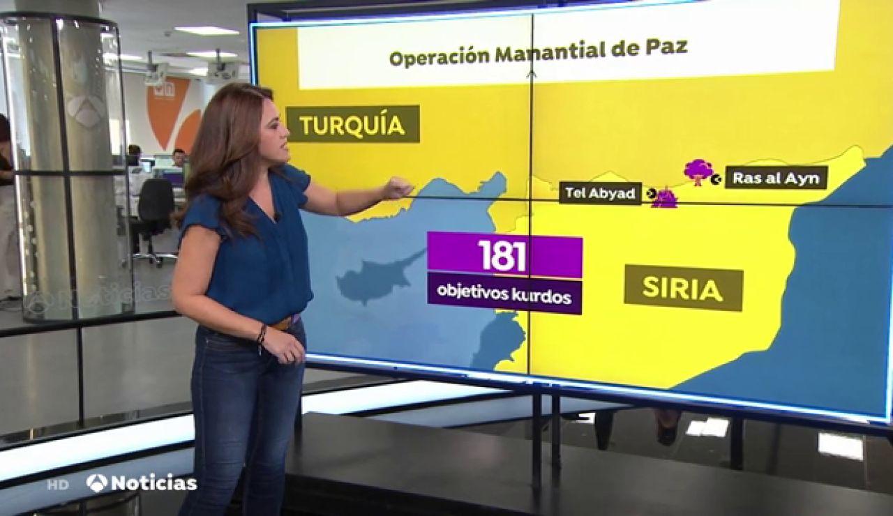 Turquía bombardea más de 180 posiciones kurdas en Siria
