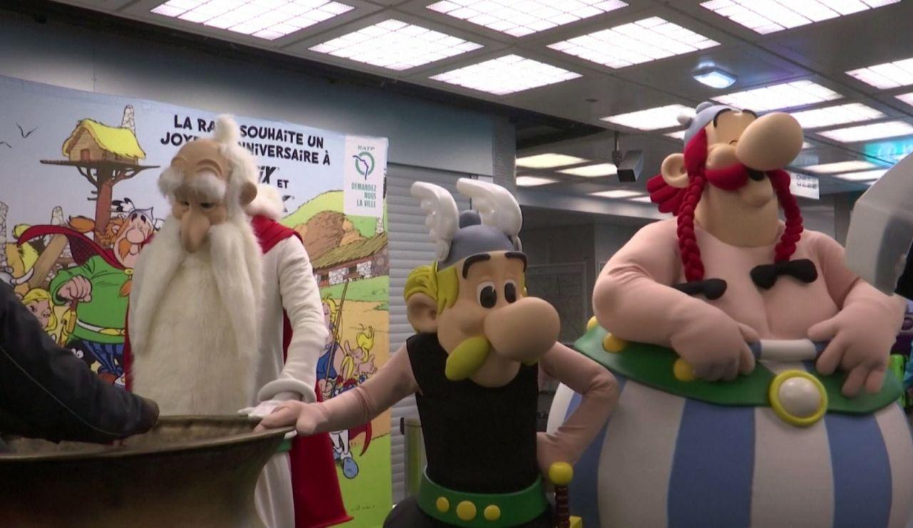 París celebra el 60º aniversario de Astérix y Obélix cambiando el nombre de sus estaciones de metro