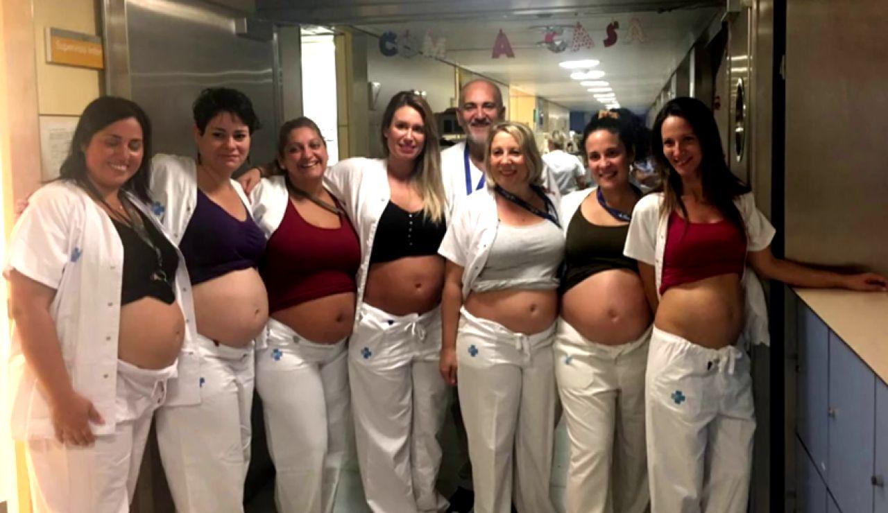 Siete enfermeras de Neonatos del Vall d'Hebron se quedan embarazadas a la vez