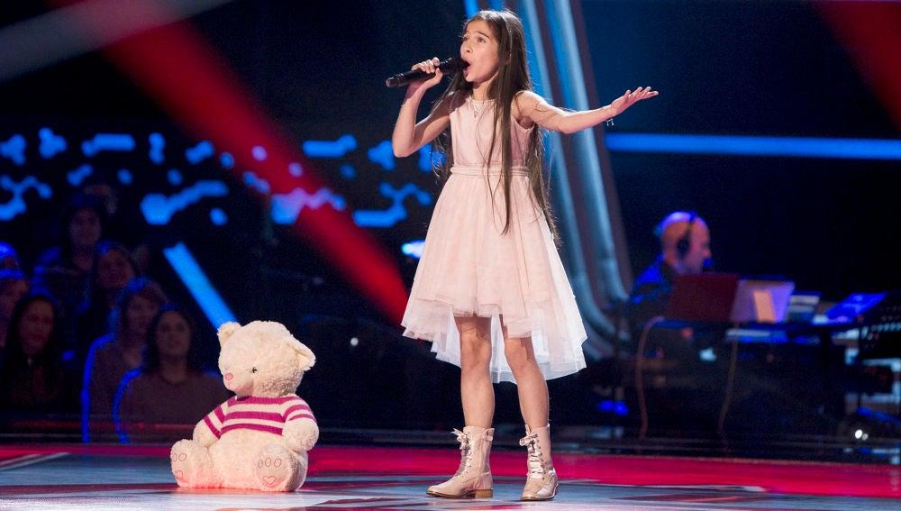 El impresionante regreso de Melani, ganadora de 'La Voz Kids'