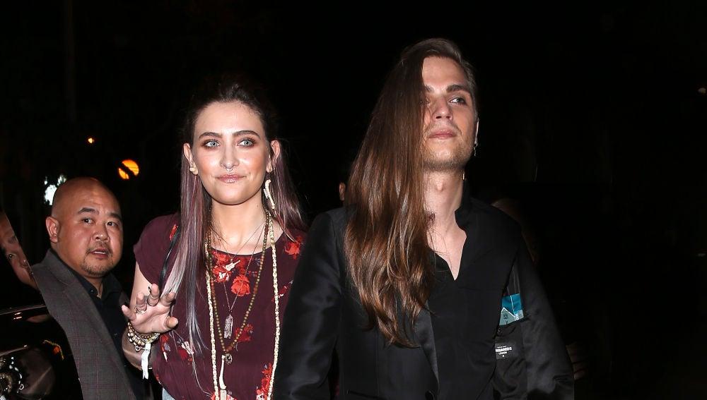 Paris Jackson y su novio Gabriel Glenn tras la gala AMFAR