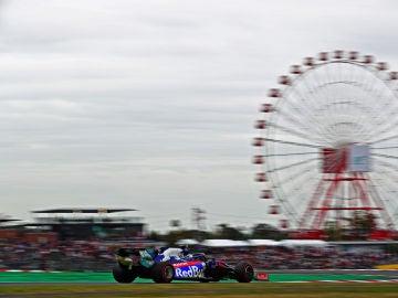 GP Japón: Pierre Gasly, en el trazado de Suzuka