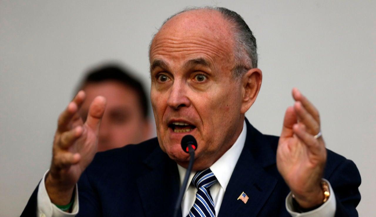 El abogado de Trump, Rudolph Giuliani.