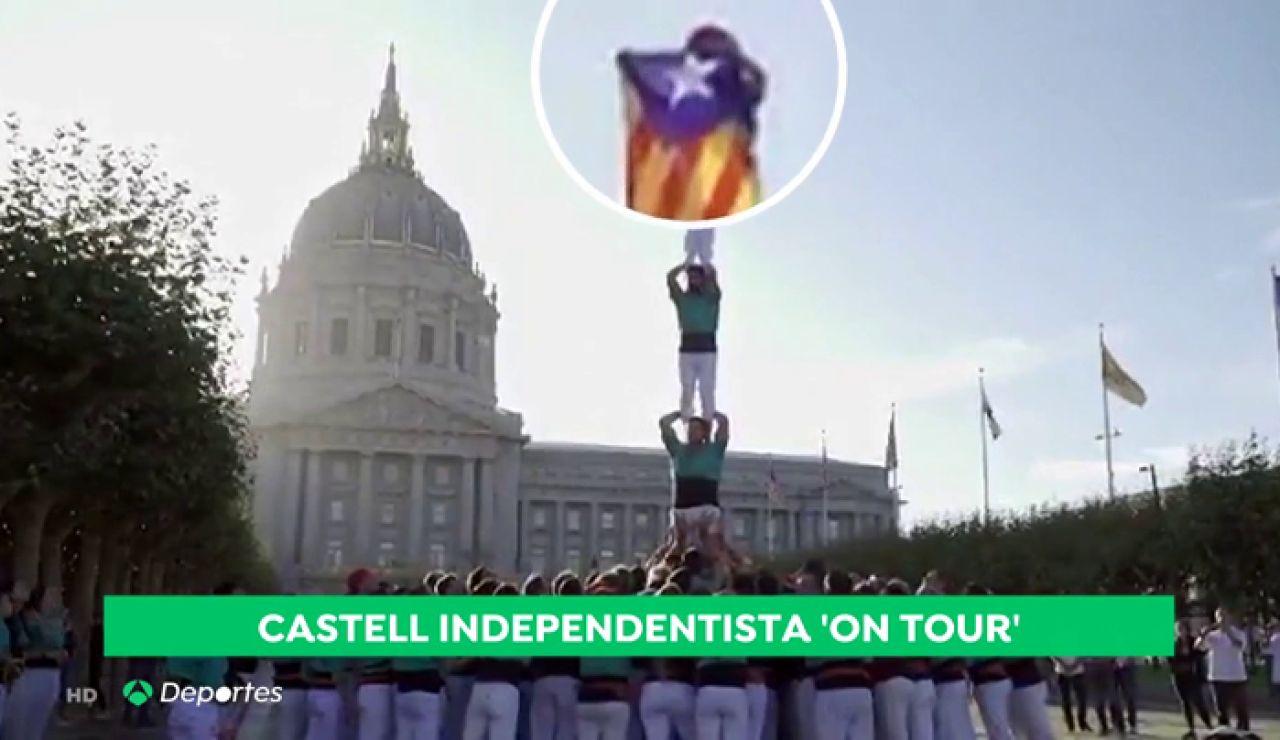 La gira americana llena de reinvidicaciones separatistas de los Castellers de Villafranca