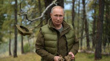 Vladimir Putin, andando por el bosque