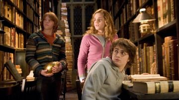 Harry, Hermione y Ron en 'Harry Potter'