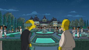 Los Simpson celebran una fiesta como en 'El Gran Gatsby'